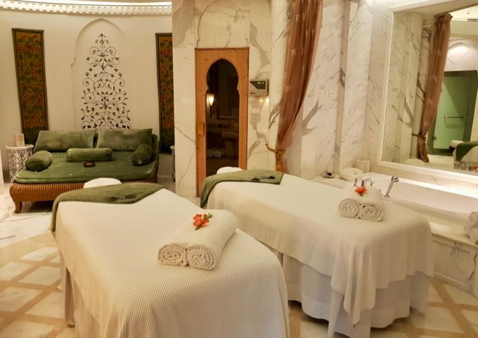 The spa offers rooms for couples.