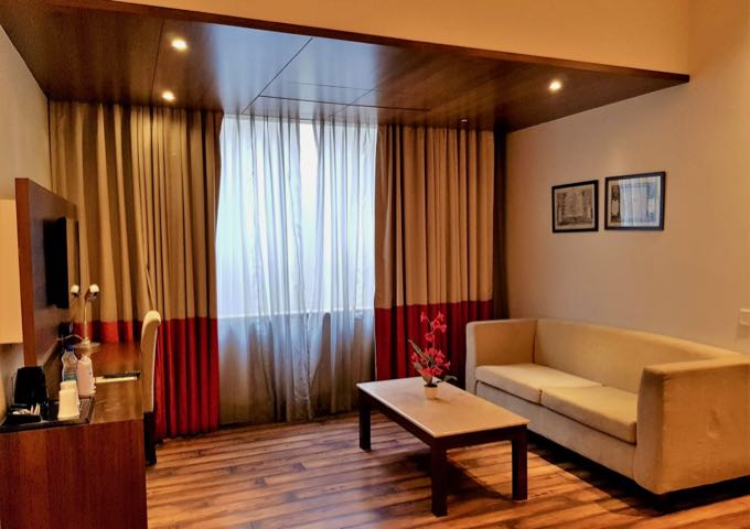 The Luxury Rooms have larger sitting areas than the more expensive rivals.