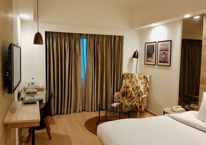 The spacious rooms have a pleasant decor.