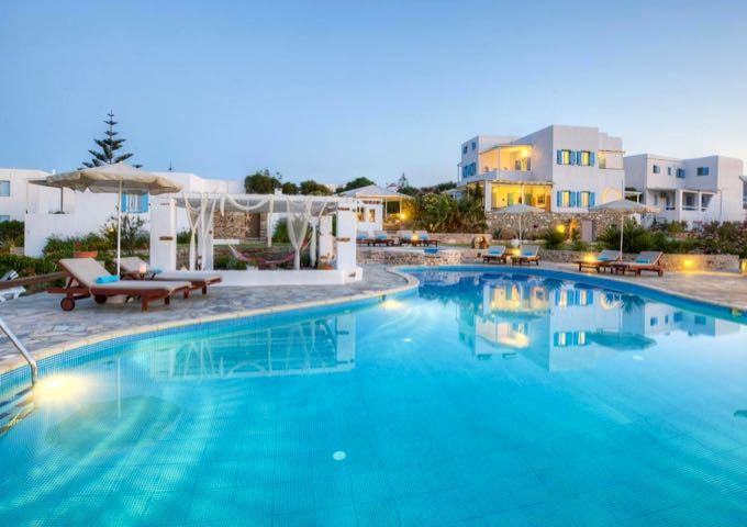 Hotel with pool in Antiparos.