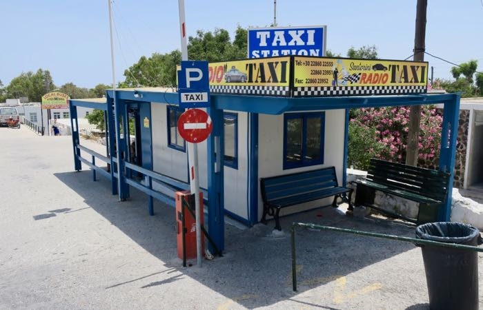 Taxi station in Fira.