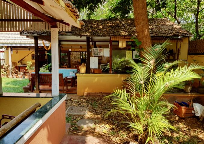 The guesthouse has a lot of space, personality, and gardens.