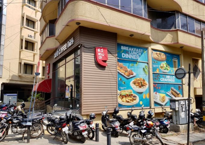 Café Coffee Day close by serves light meals and drinks.