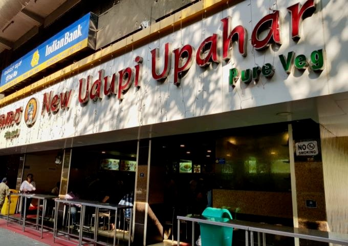 New Udupi Restaurant nearby serves authentic South Indian fare and street food.