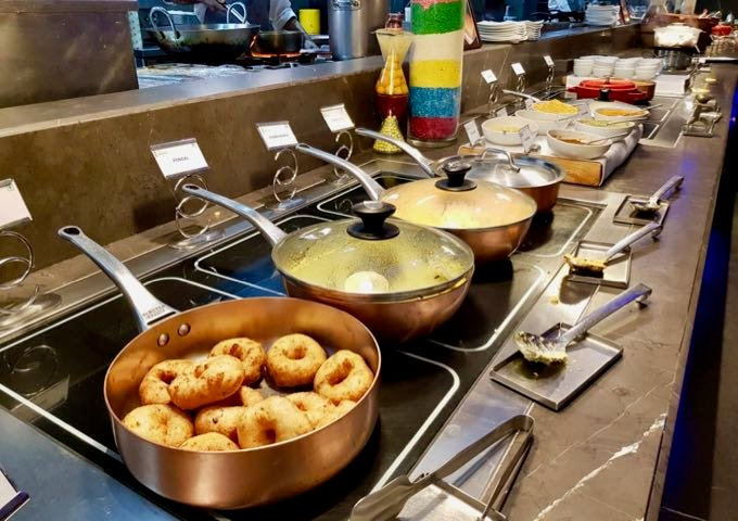 One Atria Café is popular for its breakfast and lunch buffets.