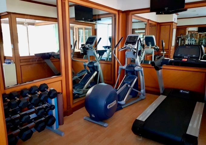 The hotel also has a small gym.