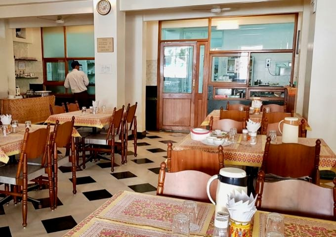 Chitra Cafeteria serves Indian food and excellent buffet breakfasts.
