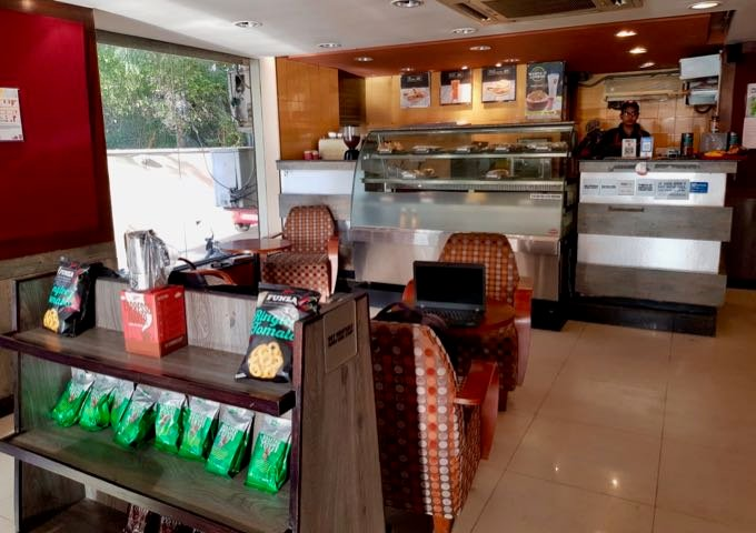 Café Coffee Day serves light meals and drinks.