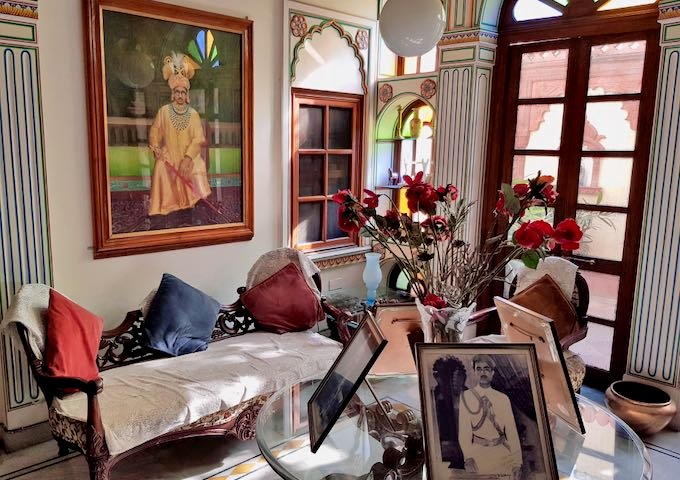 The entire guesthouse is decorated with fascinating old photos.