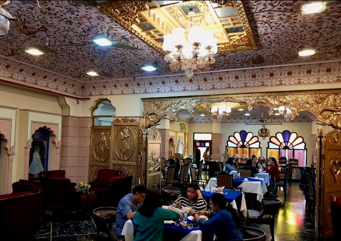 Umaid Mahal hotel close by offers the basement Taikhana Restaurant and a rooftop cafe.