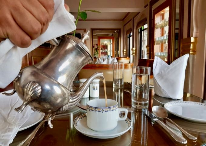 The Royal Lounge offers tea with a regal experience.