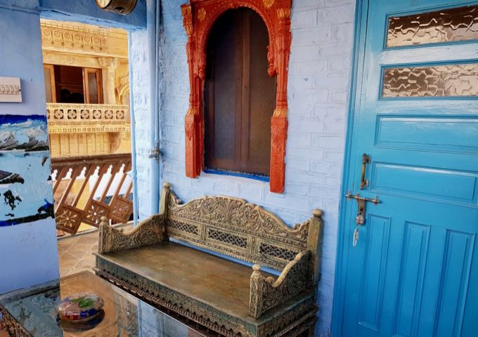 True to its name, the guesthouse features blue paint throughout.