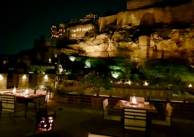 Dinner at the Mehrangarh Fine Dining Evening Restaurant is a great experience.