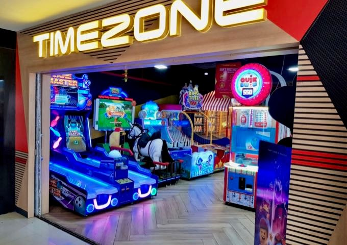 The mall has a large games arcade.