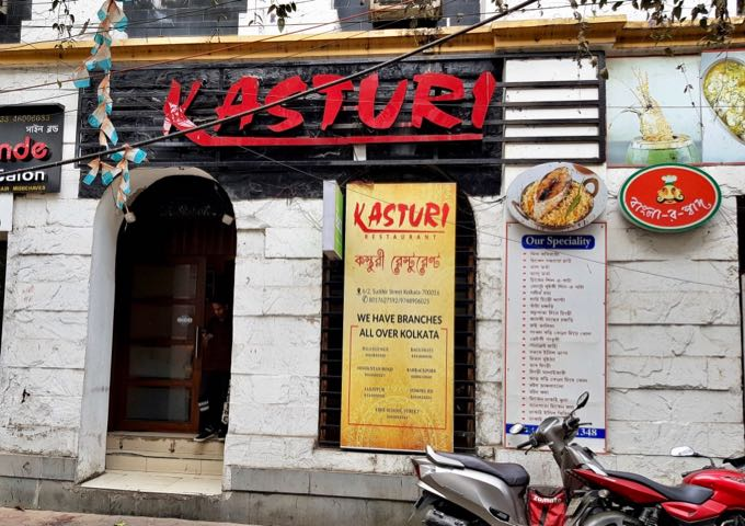 Kasturi restaurant nearby serves Indian food in a clean setting.