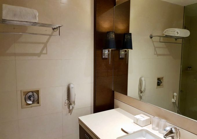 All bathrooms are spacious and modern.