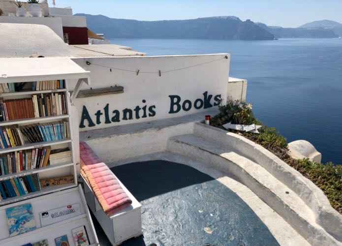 View from Atlantis Bookshop.