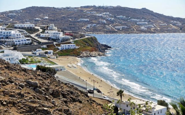 Best beach close to Mykonos Town.