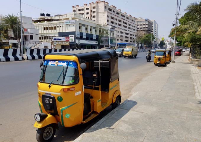 Auto-rickshaw drivers refuse to use meters, so bargain hard.