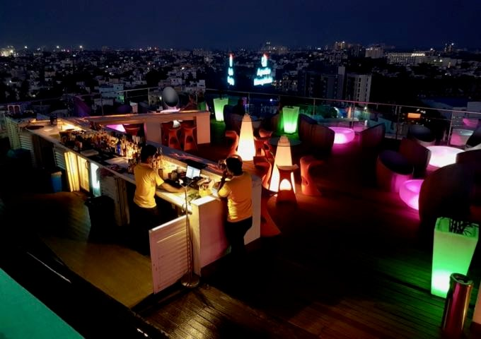 The rooftop also features the High bar and lounge.