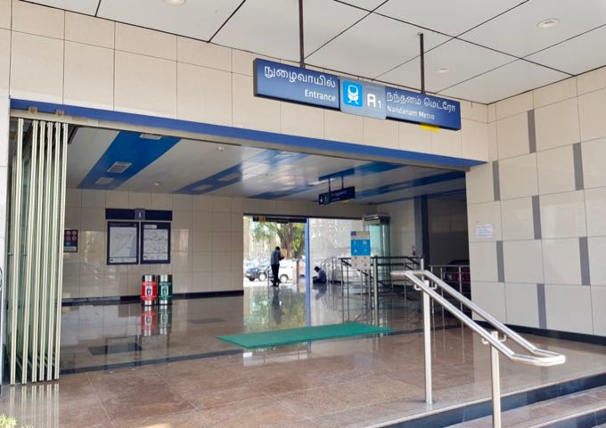 The Nandanam metro station is close to the hotel.
