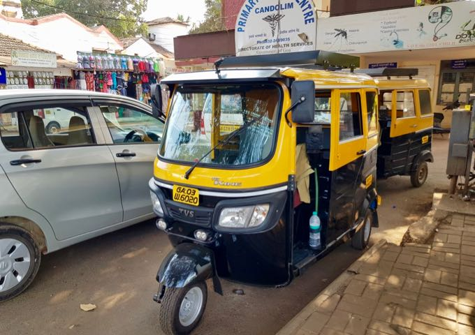 Auto-rickshaws can be found in the general area.