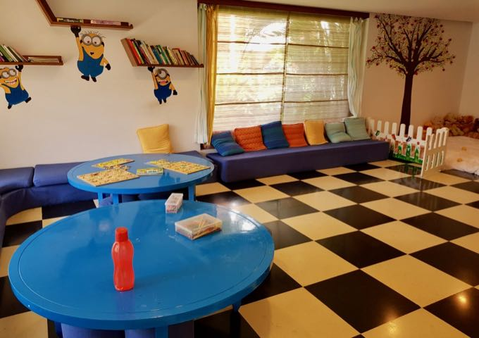 The kids club has separate areas for teenagers and younger kids.