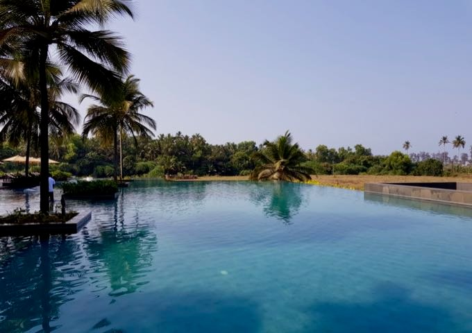 The main infinity pool is huge and stunning.
