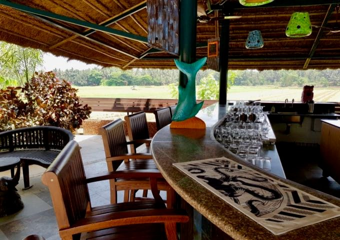 Paddy Bar offers views of the rice fields.