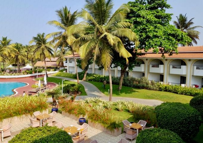 The resort offers international-standard amenities and layout.