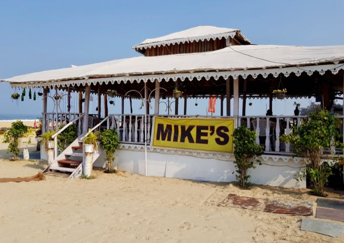 Mike's is the biggest and best café on the beach.