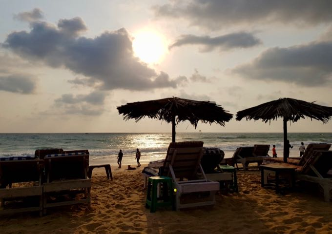 The sunsets in Goa are magical.