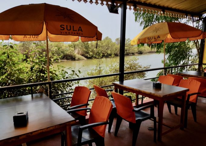 The excellent Sea Salt café offers river-side seating.