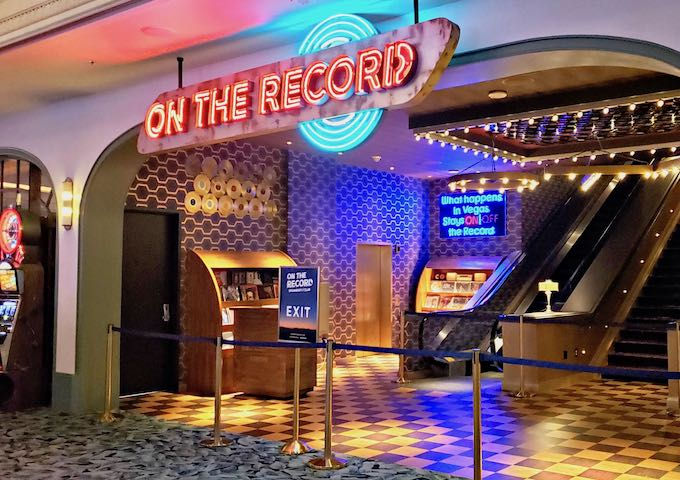 On the Record Bar and Nightclub in Las Vegas