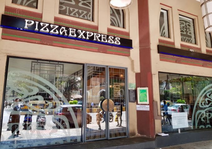 Pizza Express serves delicious Italian food.