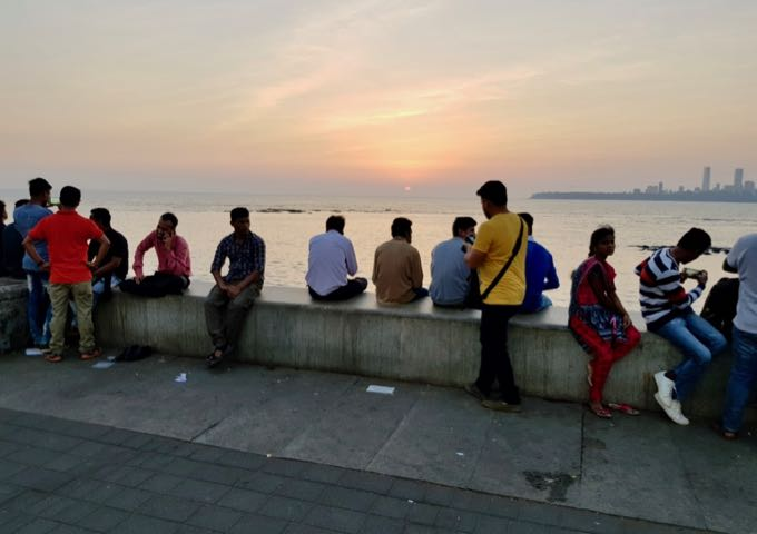 Marine Drive is very popular during sunset.