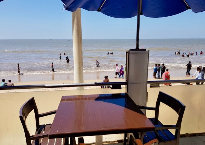 Sea Side Patio offers beach-side seating.