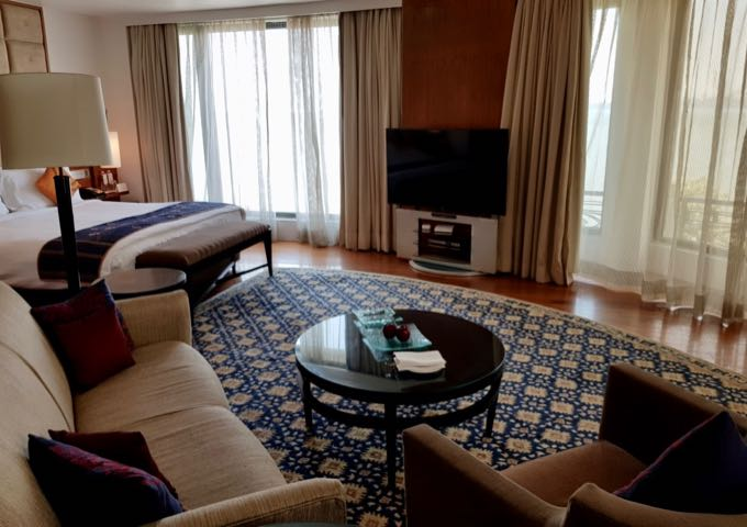 Seafront Corner Suites are very luxurious and spacious.