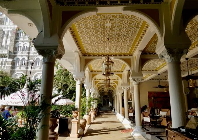 Traditional design at the Taj Mahal hotel in Mumbai.