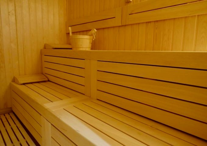 The spa has a sauna.