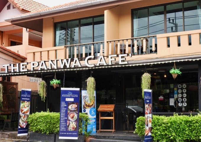 The Panwa Cafe serves excellent coffee and Thai food.