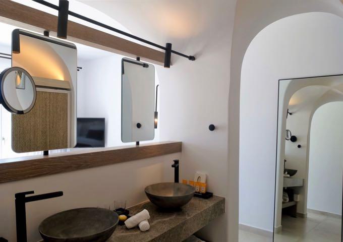 The bedroom has an ensuite bathroom.