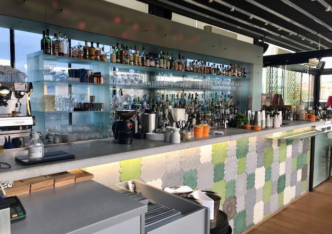 High Note SkyBar serves excellent cocktails.