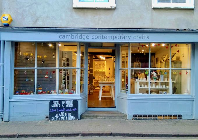 Cambridge Comtemporary Crafts sells cute, arty gifts.