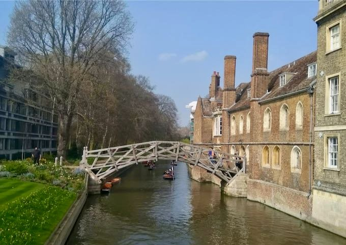 Punting past the colleges is a favorite pastime.
