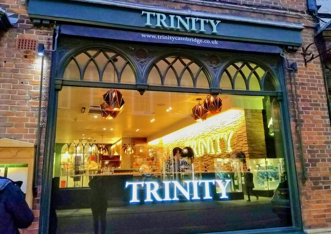 Trinity is known for oysters and champagne.