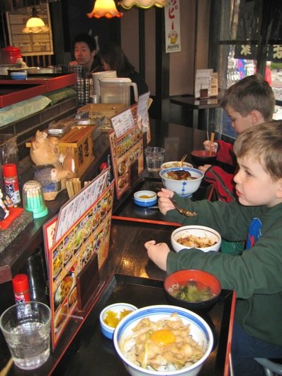 Food, restaurants, and eating in Japan with children.