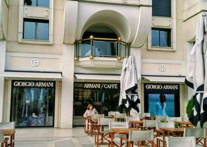Armani Caffè is very stylish.