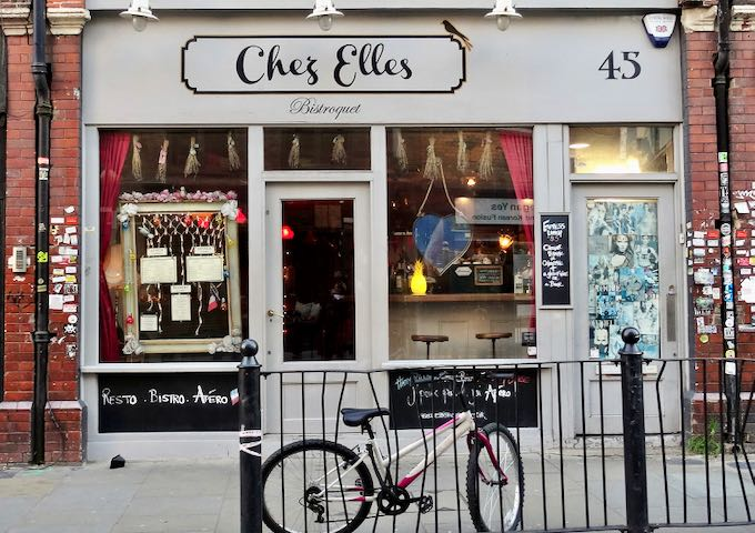 Chez Elles serves authentic French cuisine.