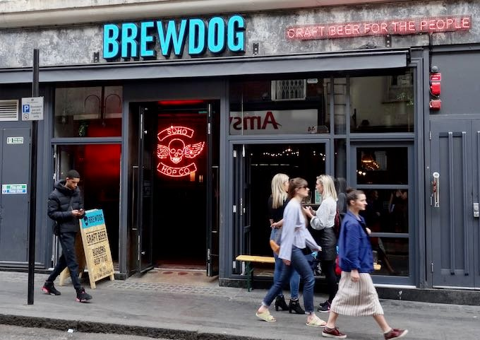 Brewdog is a Scottish craft beer outlet nearby.
